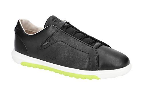 Geox Damen Slip-On Sneaker NEXSIDE, Frauen Sneaker,Halbschuh,Sportschuh,Slipper,Gummizug,atmungsaktiv,SCHWARZ,40 EU / 7 UK
