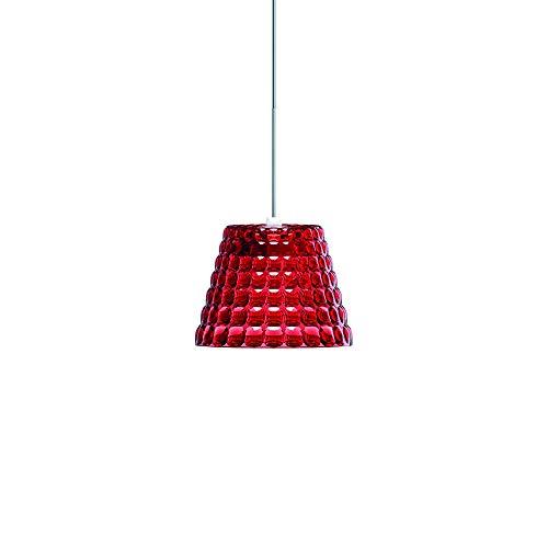 Guzzini Tiffany Lighting Lampada a Sospensione S Ø 13 cm x H 10 cm, Rosso