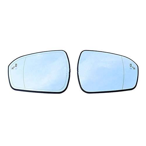 WHJIXC Für Ford Mondeo 2013 2014 2015 2016 2017 2018, Auto beheizte Blendschutzwarnung Warnflügel Rückspiegelglas