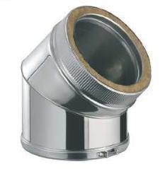 Codo chimenea inox 45º-150mm diam interior aislada
