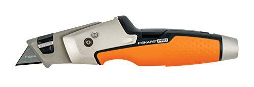 Fiskars Universal-Malermesser, Länge 19,1 cm, Rostfreier Stahl/Kunststoff, Schwarz/Orange, CarbonMax, 1027225