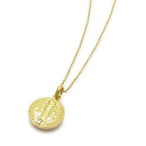 ロイヤルスタッグゼスト[RoyalStagZEST] ネックレス メンズ コイン シルバー K23RGP ゴールド msn26-006 (スモールタイプ)