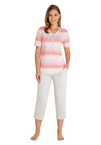 hajo Polo & Sportswear Damen 7/8 Schlafanzug Klima-Komfort