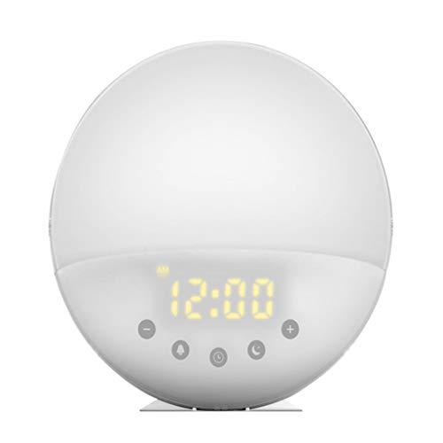 Notuarecaii WR Wake Up Light Reloj Despertador con simulación de Amanecer Lámpara de 7 Colores y 7 Sonidos