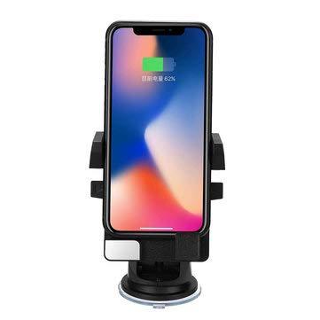 WZhen Soporte De Montaje De Carga del Cargador De Coche Inalámbrico Qi para iPhone 8 X S8 S9 Cod