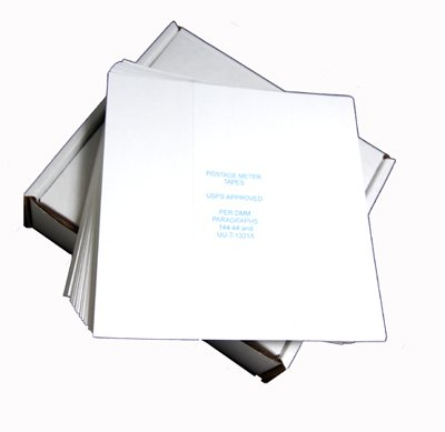 Pinwheel Postage Meter Tapes~Made in USA~ USPS Approved~Compatible with All Brands of Mailing Machines. 600 Tapes in Strong, Easy-Feed Box.