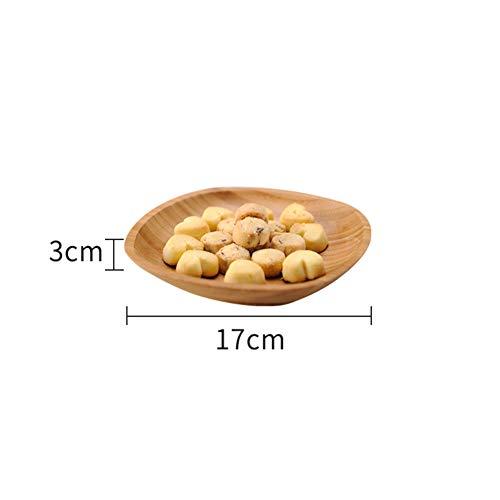 GBESTAO bamboe ovaal dienblad, ronde plaat kaas platen koffie theetafel party diner bord zuur snoepgoed dienblad