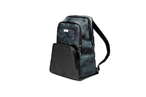 Moleskine City Travel Zaino Porta PC 13' e Tablet, Backpack con Dorso Traspirante, 28 x 17 x 37 cm, Camo Verde