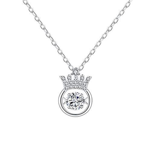ZGY S925 plata de ley collar elegante retro coreano creativo moda diamante colgante cadena