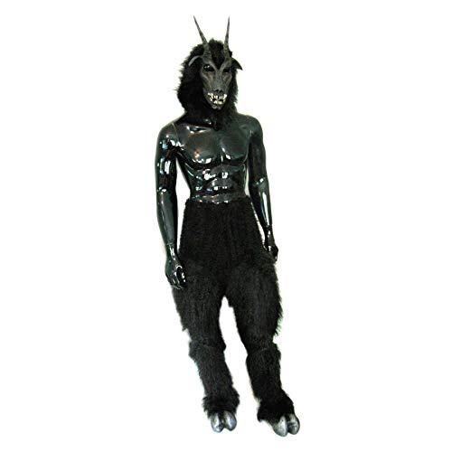 Zagone Studios Black Goat Devil Mask Legs Hooves Costume
