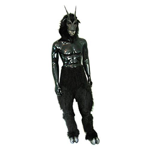 Zagone Studios Black Goat Devil Mask Legs Hooves Costume
