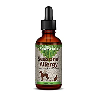 Animal Essentials Seasonal Allergy Herbal Formula for Dogs & Cats 1 Fluid Oz - Sweet Tasting Tincture for Allergy Relief Alcohol-Free