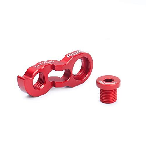 MoreChioce - Desviador trasero de bicicleta, kit extensor de desviador trasero de aluminio para bicicleta de montaña 34-52T, color rosso, tamaño talla única, 5.00 x 1.00 x 1.00centimeters