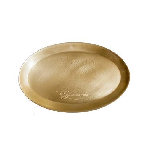 Conemmo Disegno Originale in Ottone retrò stoccaggio del Desktop Vassoio Ovale Ornamenti Gioielli ins tavolino Nordic