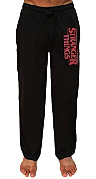 Mad Engine Stranger Things Title Logo Adult Lounge Pants - Black  XXX-Large