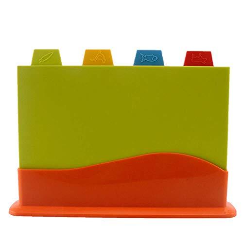 Nicht-slip Kunststoff Index Hacken Board Kit/Ohne BPA/Mit Stand-compact/Perfekte Für Fleisch, Fisch, Gemüse, Deli (30 × 22,4 Cm)