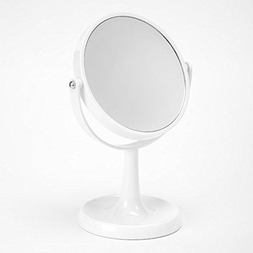 Miroir de maquillage en plastique 7 pouces grand miroir de bureau miroir portatif Miroir de maquillage de table ABS de maquillage Xuan - worth having (Couleur : Blanc)