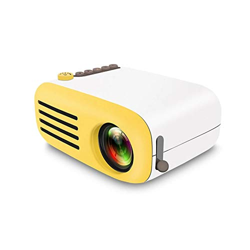 GMZS Mini Projector, Support 1080P HD USB HDMI Home Theater Portable Projector, 20-60 Inch Projection Screen