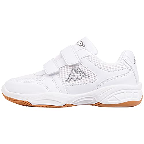 Kappa Unisex-Kinder DACER KIDS Sneaker, Weiß (1016 white/grey), 34 EU