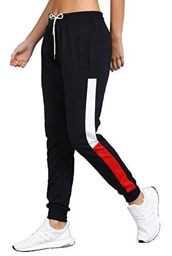 Alan Jones Clothing Women's Slim Fit Track pants (WM20-JOG-P08-NAVY-4XL_Navy_4XL)