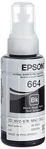 Epson Serie 664 EcoTank, Flaconi di Inchiostro Dye a 4 Colori, 70 ml, Nero, con Amazon Dash Replenishment...