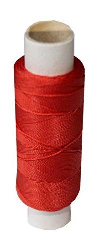 B2Q Sattlergarn Zwirn 14x2x3 Polyester 50 m rot Ø 0,3mm (0004)