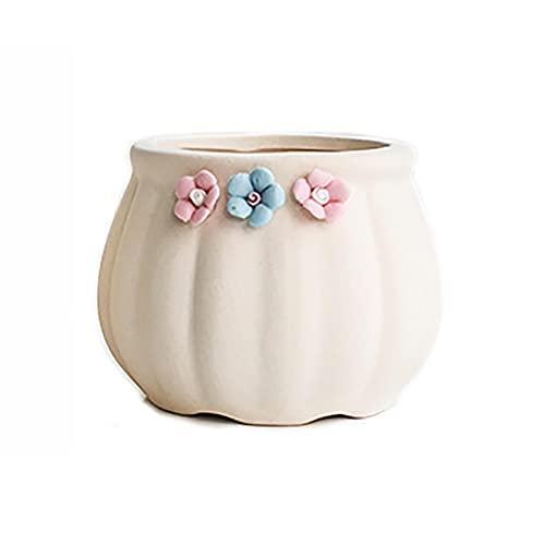 Barm Mini Vasi a Forma di Fiore in Ceramica Vaso di Fiori da Tavolo Creativo Vaso per Piante Fioriera Succulenta Vaso Decorativo Ornamento per La Decorazione della Casa,A