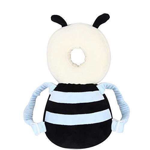 Almohada de apoyo de protección para la cabeza del bebé, cojín suave del reposacabezas de animales de dibujos animados Protección de seguridad para andadores(abeja)