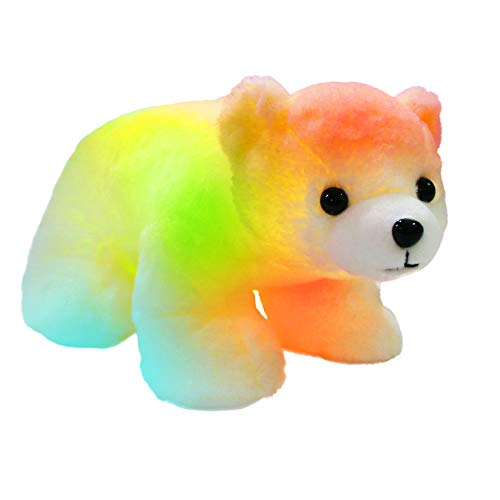 Bstaofy Glow Polar Bear LED Stuffed Animals Night Light Curious Soft Plush Adorable Floppy Toy Gift...