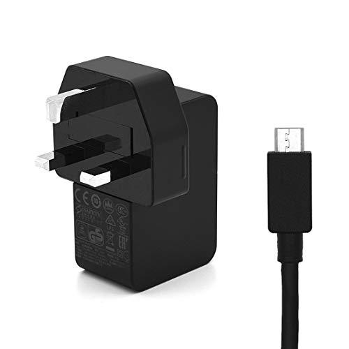 FENSHIX Cargador del Adaptador 5.2V 2.5A de alimentación de CA con 1,5 m de Cable de Carga USB Micro, for Microsoft Surface 3, Certificado CE (Color : Color2)