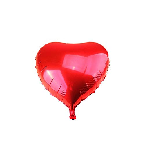 WeAreAwesome Foil Balloon Air Balloon Heart Red 50 cm XL Inflatable Birthday Wedding Party Celebration