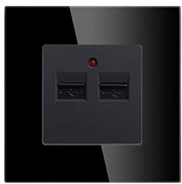 BSEED Enchufe de pared TL+USB,1/2 Toma de teléfono y toma de ...