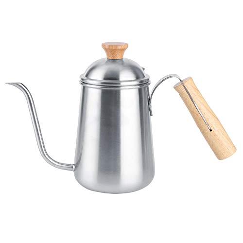 Jingyig Tetera, cafetera de Control de Flujo Duradera para el hogar, para cafetería, hervidor de Agua hirviendo con Mango de Madera para el hogar