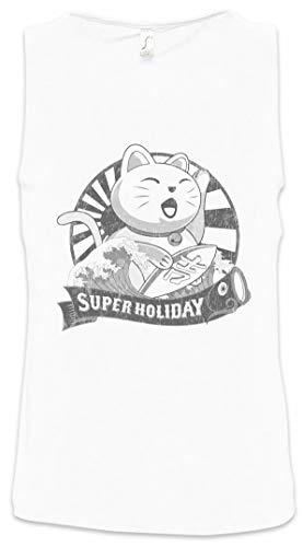 Preisvergleich Produktbild Urban Backwoods Maneki Neko VII Herren Männer Tank Top Training Shirt Weiß Größe M