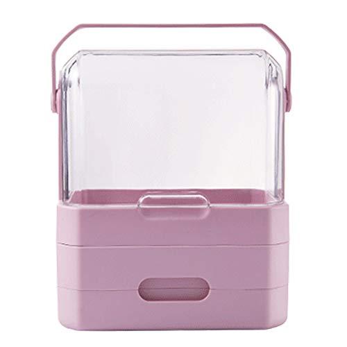 ChenCheng Kosmetische Aufbewahrungsbox-ABS + PS-Material, kann gedreht werden Feuchtigkeitsfest staubdicht, Schminktisch Hautpflegeprodukte Lippenstift Finishing Box tragbare transparente Kosmetik Fal