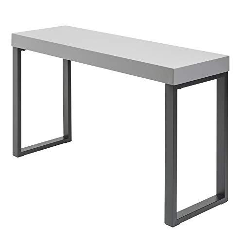 riess-ambiente.de Design Konsole Grey Desk 120cm grau Hochglanz schwarzes Gestell Bürotisch Konsolentisch Schreibtisch Schminktisch