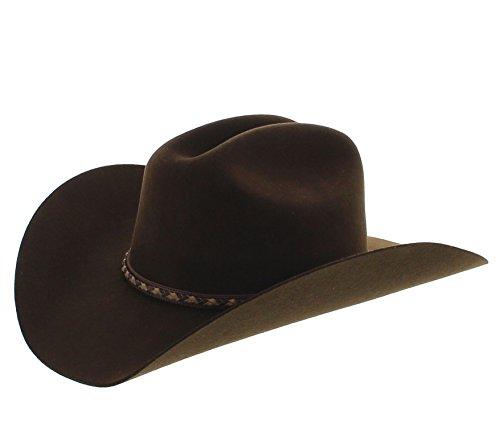 Justin Men's Plains 2X Wool Felt Cowboy Hat Brown 7 1/8