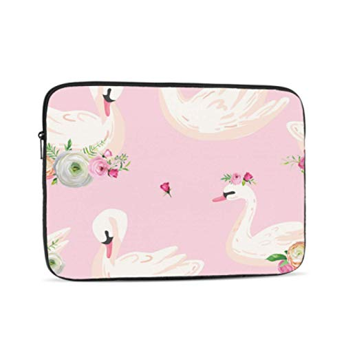 Mac Laptop Cover Princess White Outstanding Swan Mac Book Air Case Multi-Color & Size Choices10/12/13/15/17 Inch Computer Tablet Briefcase Carrying Bag
