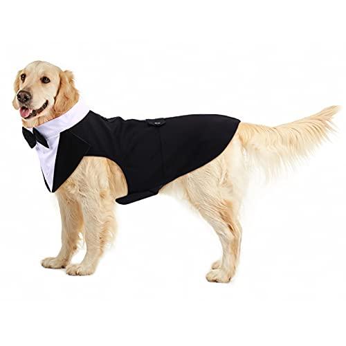 PUMYPOREITY Ropa para Perros Pajarita Esmoquin Traje Smoking Perro Mascota Boda Formal...