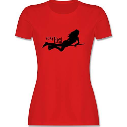 Halloween - sexy Hexy - L - Rot - l191_Shirt_Damen - L191 - Tailliertes Tshirt für Damen und Frauen T-Shirt
