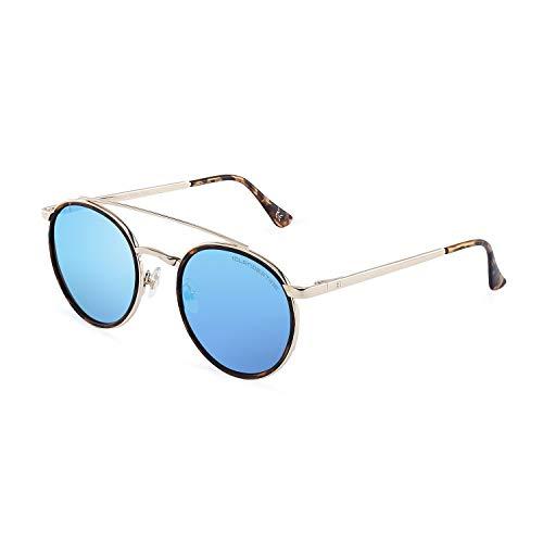 CLANDESTINE Pure Gold Matte Habana Ice Blue - Gafas de sol Nylon HD Hombre & Mujer