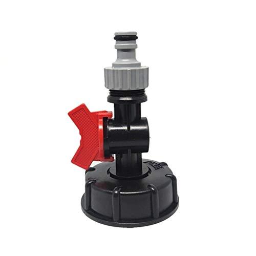 Cjcaijun Outil d'irrigation 1pc Durable IBC Réservoir d'eau Raccord de Sortie/Connecteur/Adaptateur 3/4 Tuyau d'arrosage d'eau Butt Adaptateur Plastique connecteur Rapide