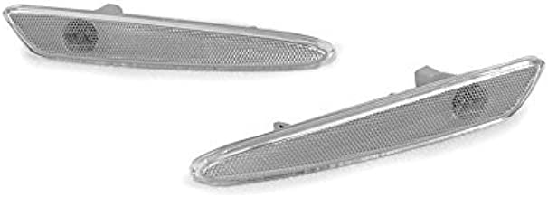 DEPO 2005-2010 Chevy Corvette Clear Front Bumper Side Marker Lights