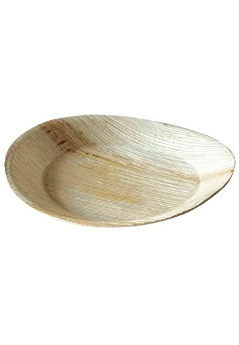 Biosylva - Lot de 25 assiettes compostables en palmier ronde 26cm