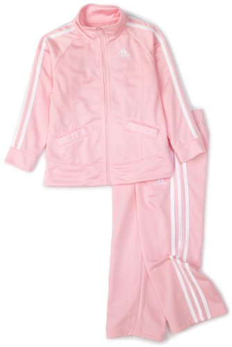adidas Baby Girls' Tricot Zip Jacket and Pant Set, Light Pink Basic, 6 Months