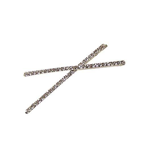 5 kleuren nieuwe geometrische driehoek X vorm Shiny Strass haarspelden haarspelden voor vrouwen meisjes haar styling accessoires wit