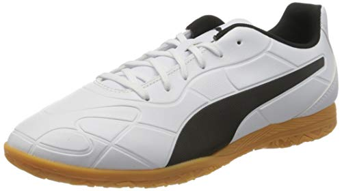 PUMA Herren Monarch IT Fußballschuh, White Black-Gum, 43 EU