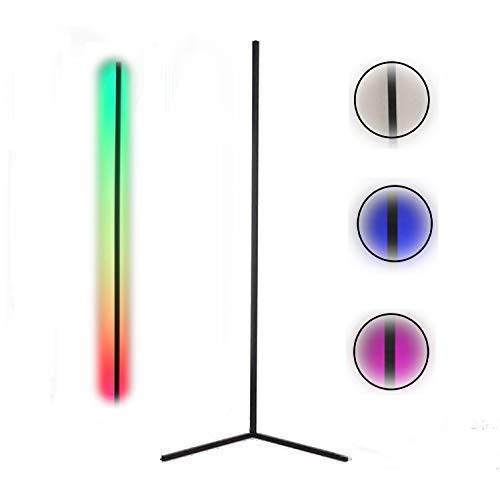 Lampara de Pie LED RGB Regulable con Control Remoto Táctil, Luz Blanca, Estilo Moderno, Bajo Consumo, Lámpara de Suelo (Blanco)