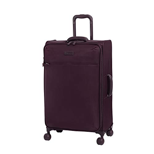 it luggage Lustrous Lightweight Expandable Spinner Wheels, Aubergine, Checked-Medium 28-Inch