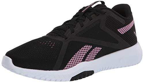 Reebok Women's FLEXAGON Force 2.0 D Cross Trainer, Black/Jasmine Pink/White, 10 D US